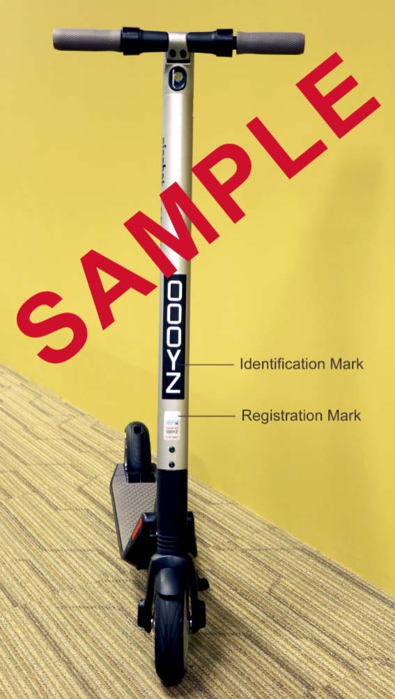 Registration and Identification Marks properly affixed and displayed.