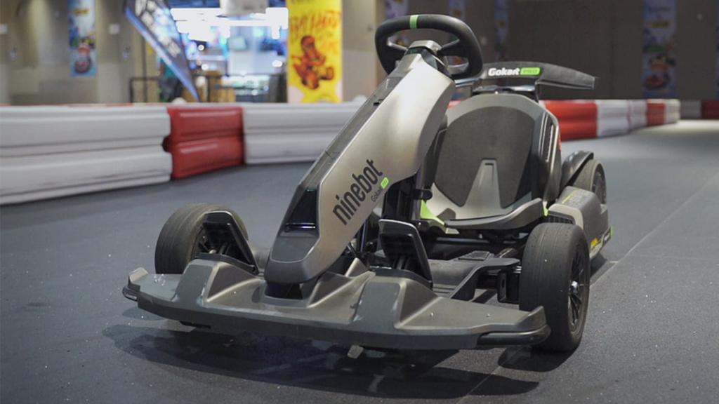 Front wing shot of Go Kart in a indoor race track