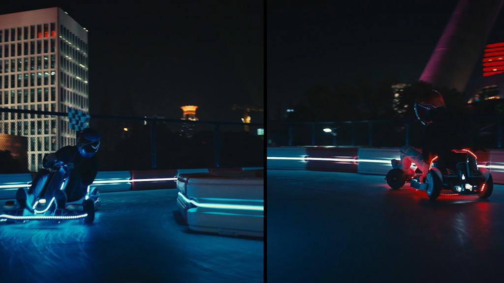 GO Kart by night