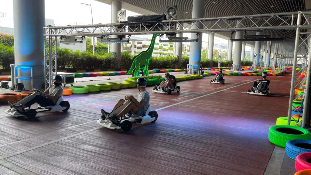 Dinosaur-themed go-kart at Changi Airport 2