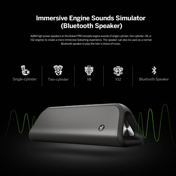 High power speakers synchronised revving engine sound.