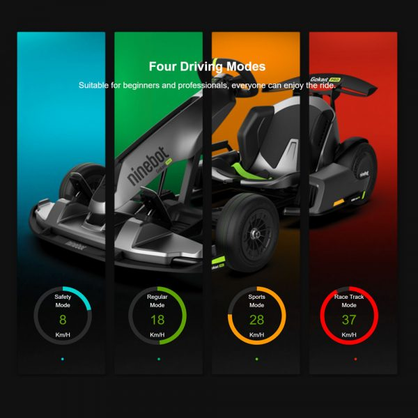 Four driving modes of the Go Kart Pro